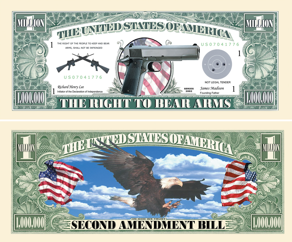 2nd Ammendment One Million Dollar Bill