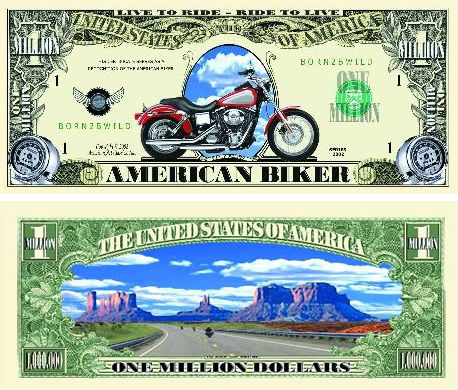 Biker One Million Dollar Bill