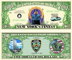 Police Commemorative Bill - 9/11 2001