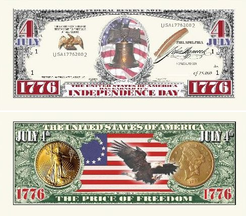 LIMITED EDITION INDEPENDENCE DAY BILL