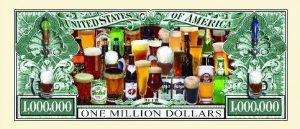 Beer One Million Dollar Bill (Drinking Money)