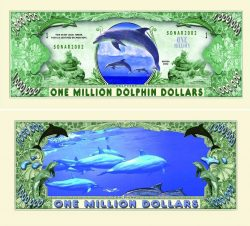 Dolphin One Million Dollar Bill