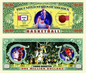 Basketball One Million Dollar Bill