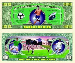 Soccer One Million Dollar Bill