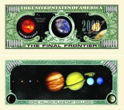 Solar System One Million Dollar Bill