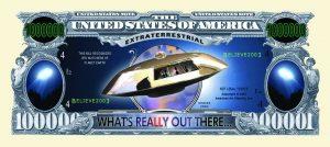UFO One Million Dollar Bill