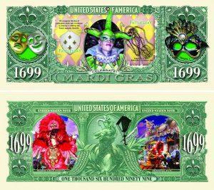 Mardi Gras One Million Dollar Bill