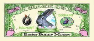 Easter Egg One Million Dollar Bill