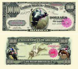 Rodeo One Million Dollar Bill