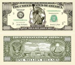 Traditional One Million Dollar Bills