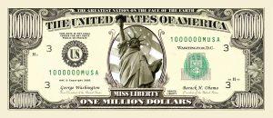 Traditional One Million Dollar Bills
