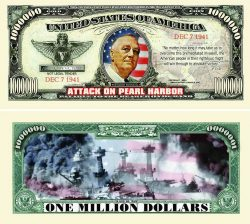 Pearl Harbor One Million Dollar Bill