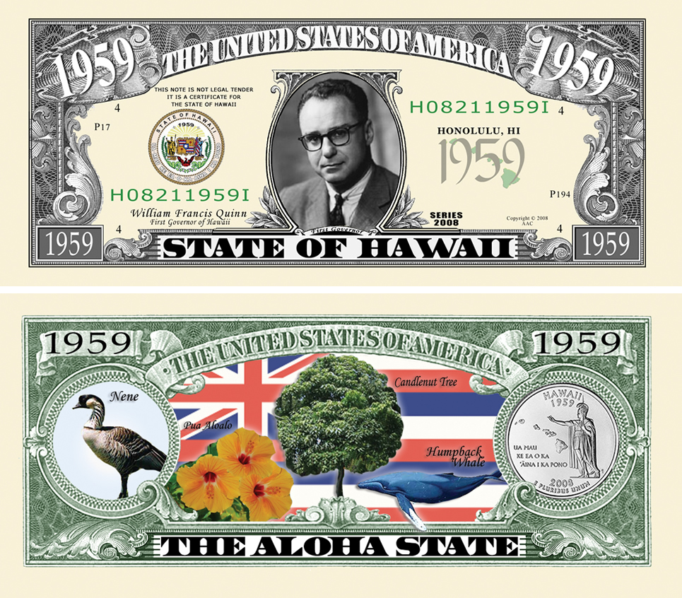 Hawaii State Novelty Bill
