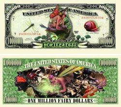 Fairies One Million Dollar Bill