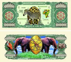 Wild Safari One Million Dollar Bill