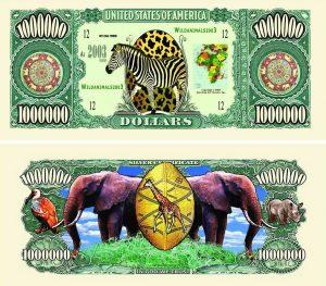 Wild Safari One Million Dollar Bill