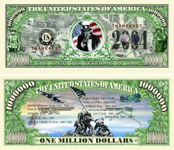 Veterans of War - Thanks a Million Dollar Bill