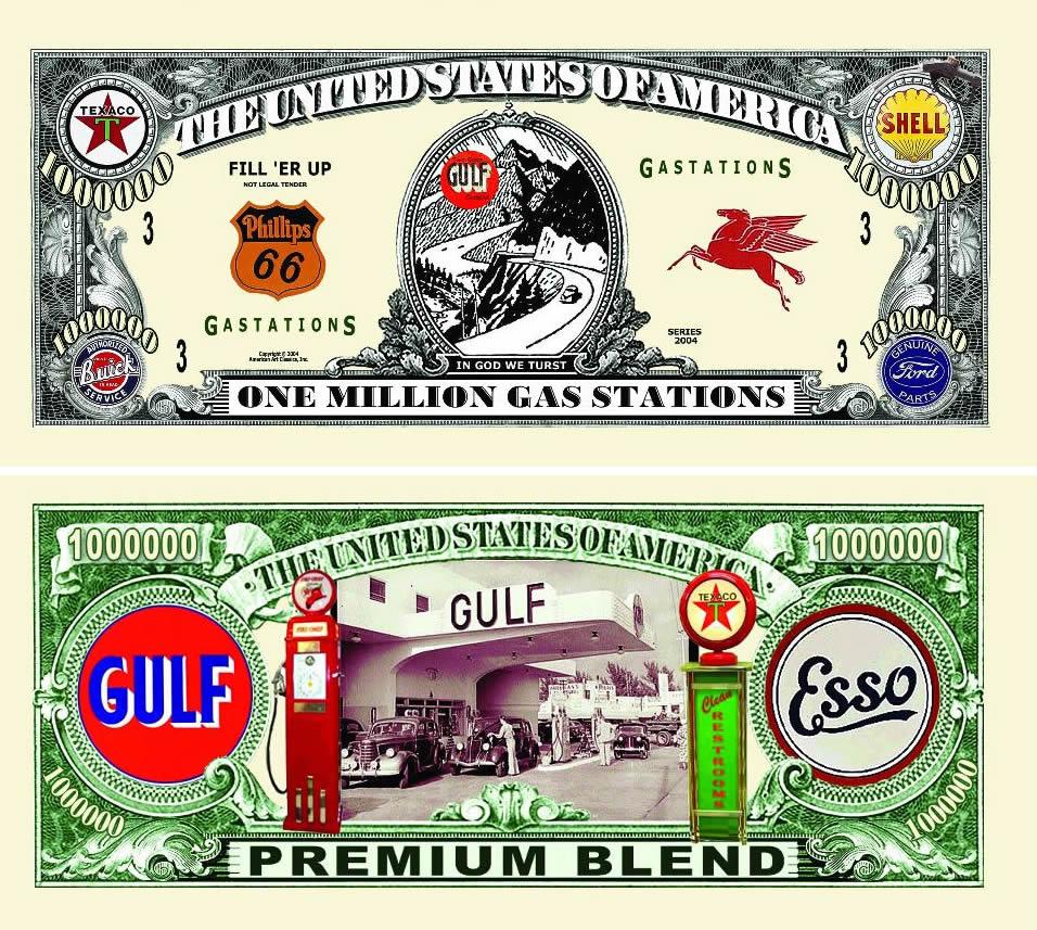 Gas Station One Million Dollar Bill