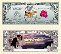 Wedding One Million Dollar Bill