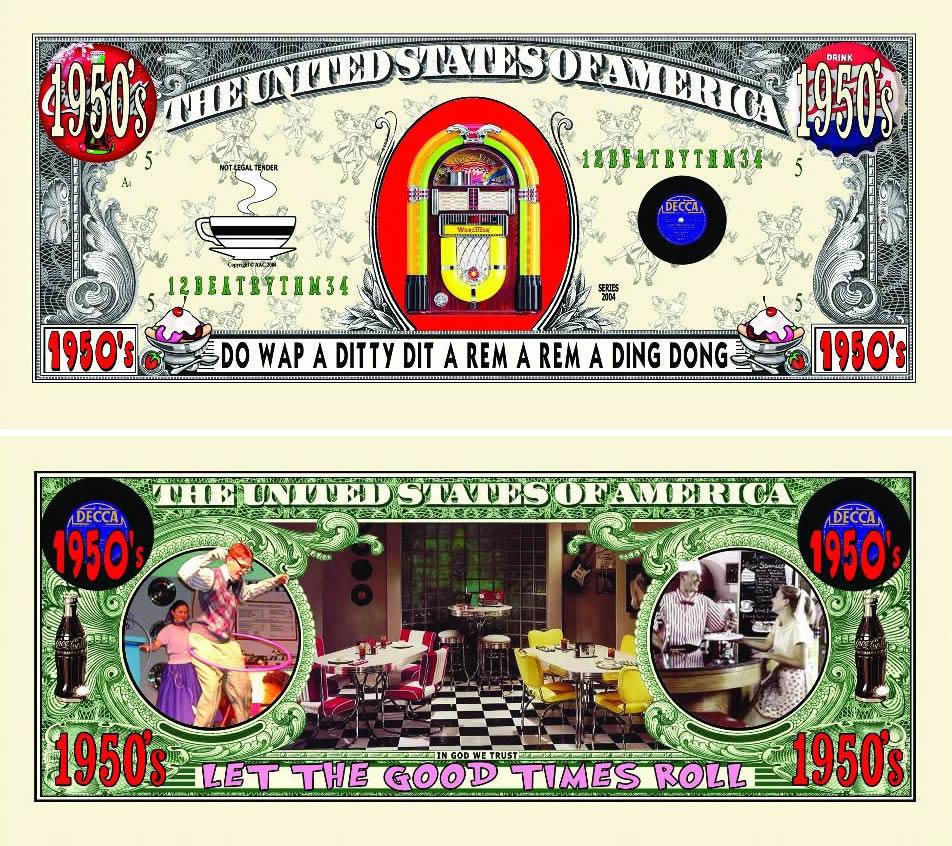 1950's Diner Bill