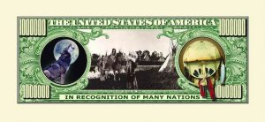 Native American Million Dollar Bill