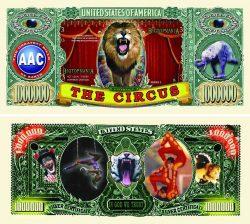 Circus (Big Top) One Million Dollar Bill