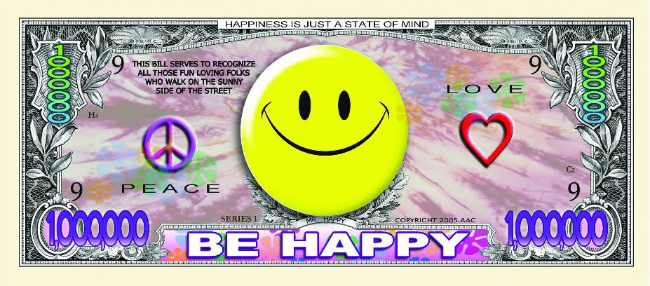 Smiley Face Give Peace A Chance Million Dollar Bill