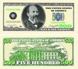 Five Hundred Dollar Bill Casino and Poker Night Money