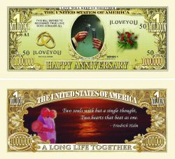 Happy Anniversary One Million Dollar Bill