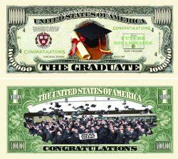 Graduation One Million Dollar Bill