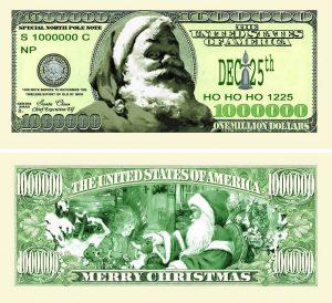 Classic Santa One Million Dollar Bill