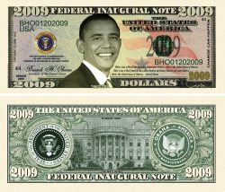 Barack Obama 2009 Inaugural Novelty Bill