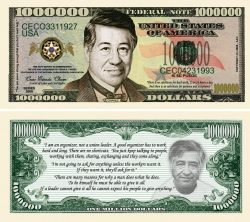 Cesar Chavez Million Dollar Bill