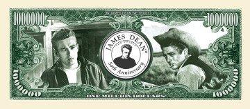 James Dean 50th Anniversary Million Dollar Bill