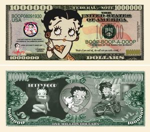 BETTY BOOP MILLION DOLLAR BILL