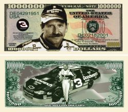 DALE EARNHARDT SR. MILLION DOLLAR BILL