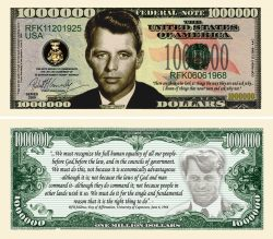 "ROBERT ""BOBBY"" KENNEDY MILLION DOLLAR BILL"