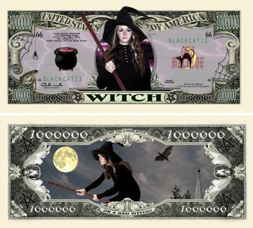 THE WITCH MILLION DOLLAR BILL