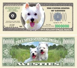 WESTIE MILLION DOLLAR BILL