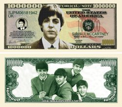 PAUL McCARTNEY MILLION DOLLAR BILL