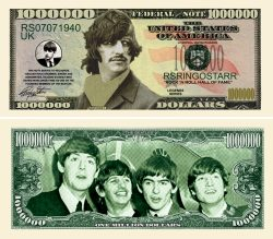RINGO STARR MILLION DOLLAR BILL