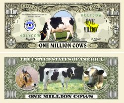 COW MILLION DOLLAR BILL