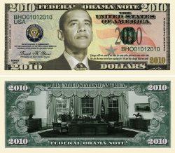 OBAMA 2010 Commemorative Bill