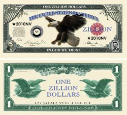 Zillion Dollar Novelty Money
