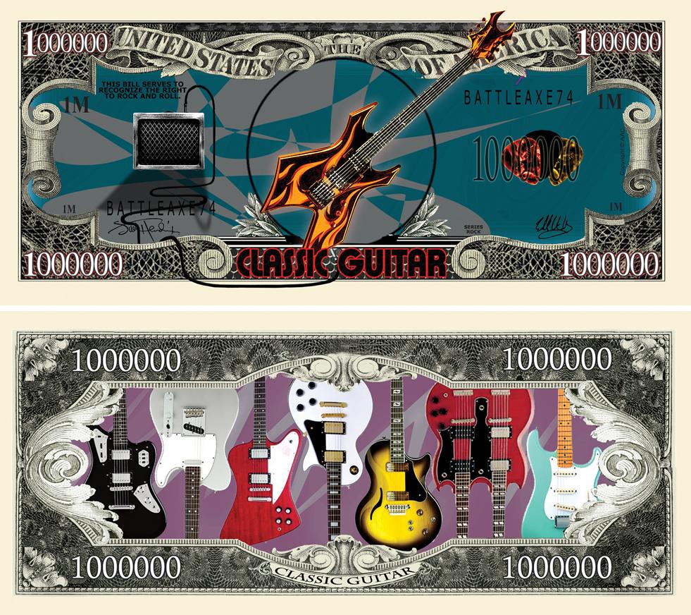 Guitar Million Dollar Bill