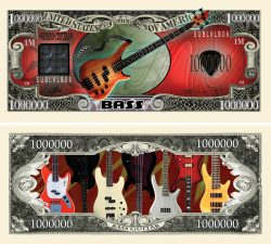 Bass Guitar Million Dollar Bill