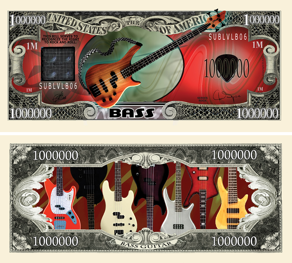 Bass Guitar Million Dollar Bill