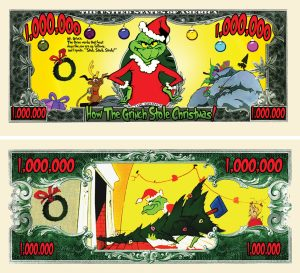 The Grinch Million Dollar Bill