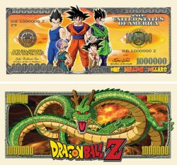DRAGON BALL Z MILLION DOLLAR BILL