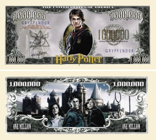 HARRY POTTER MILLION DOLLAR BILL